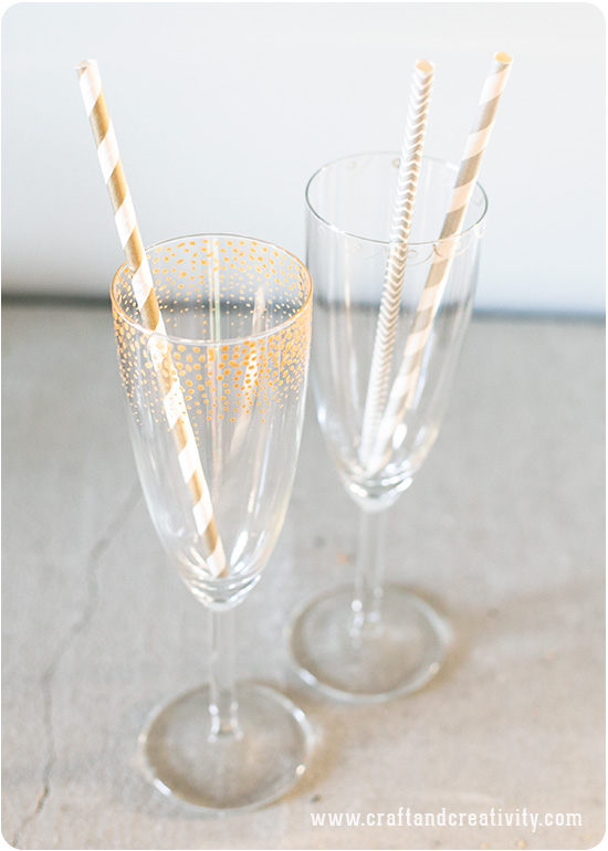 Golden Confetti Glasses - by Craft & Creativity