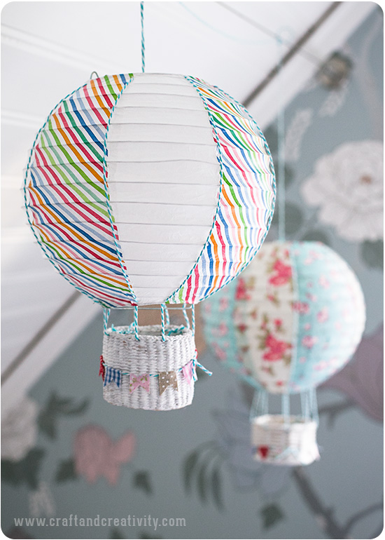 Paper lantern hot air ballons - by Craft & Creativity