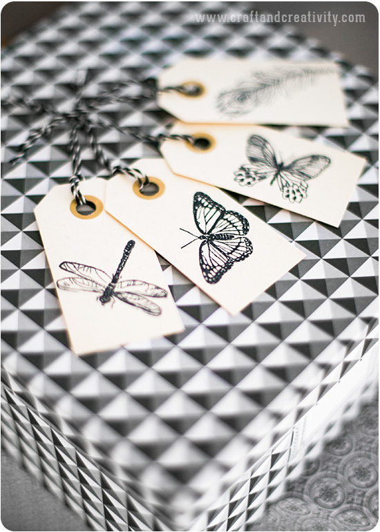 Stamped gift tags - by Craft & Creativity