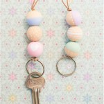 Wooden bead key chain - by Craft & Creativity
