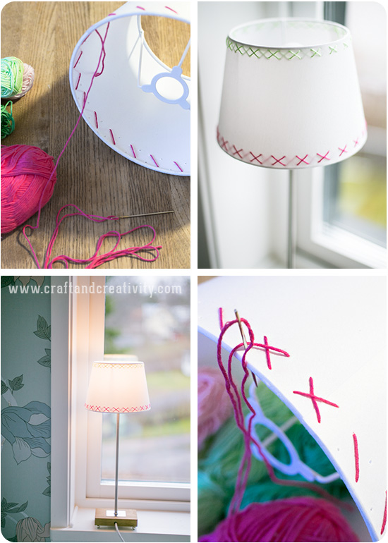 Lampshades with a new look - by Craft & Creativity