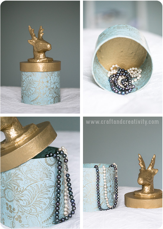 Golden box - by Craft & Creativity