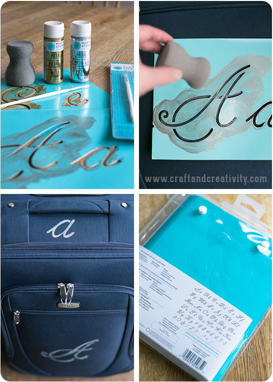 Monogrammed luggage - by Craft & Creativity