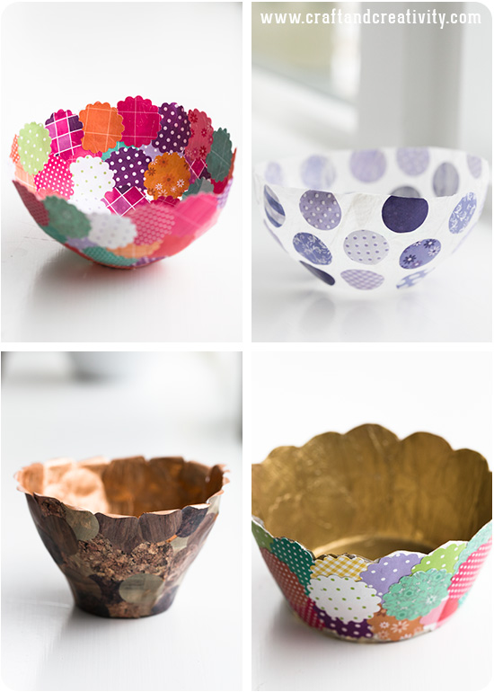 papperssk lar paper bowls craft creativity pyssel diy