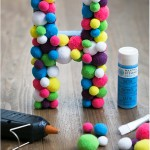 Pom pom letter - by Craft & Creativity