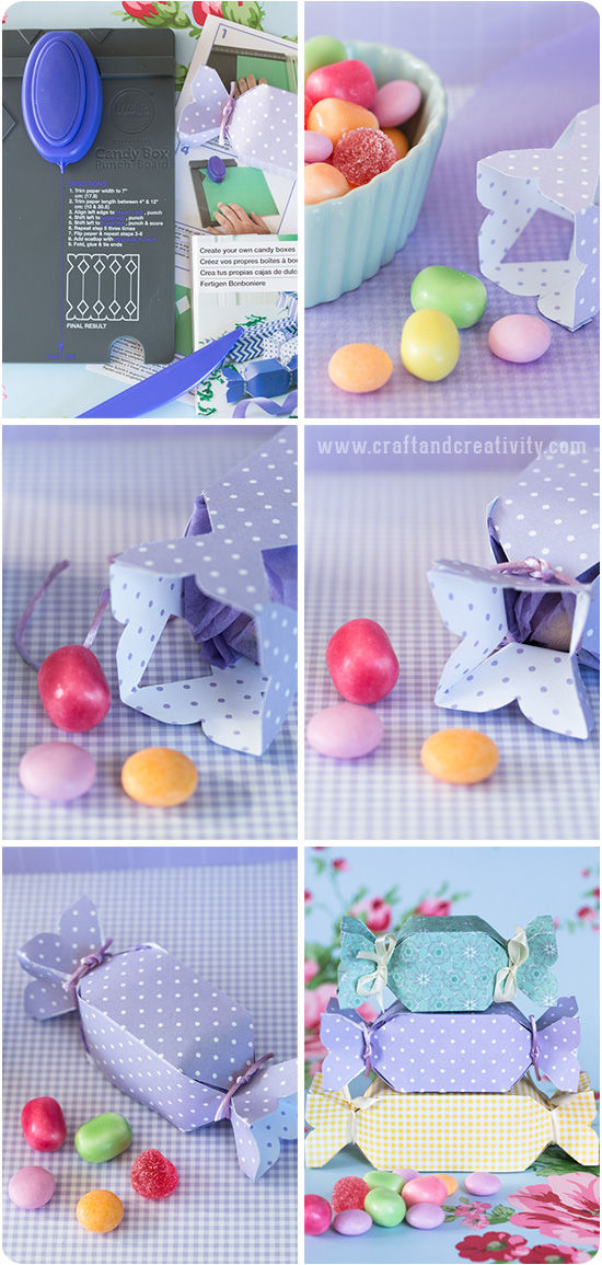 Candy shaped boxes - by Craft & Creativity