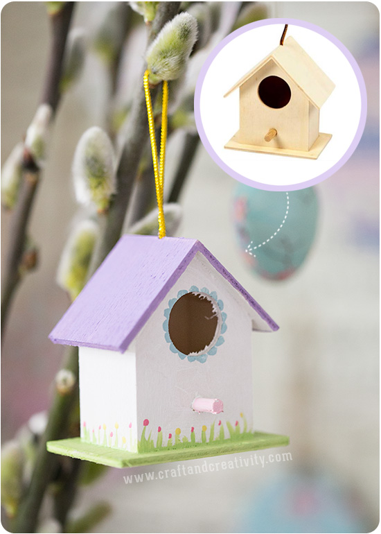 Painted miniature birdhouses - by Craft & Creativity