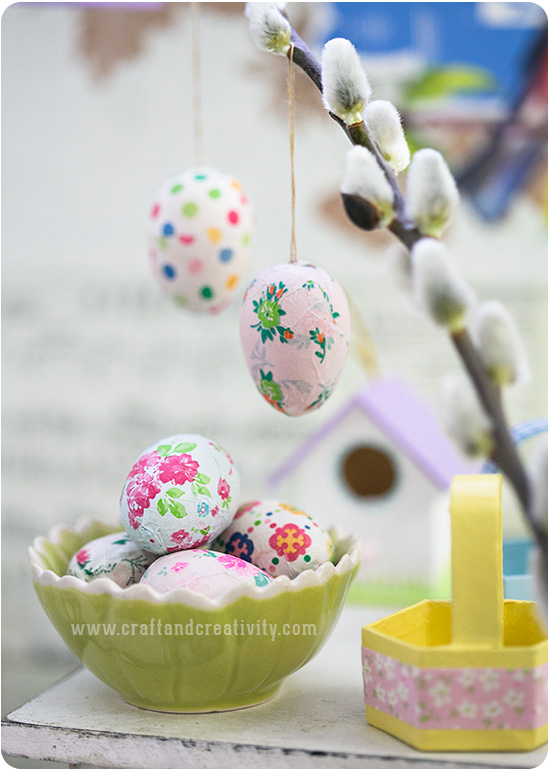 Mini baskets & Easter eggs - by Craft & Creativity