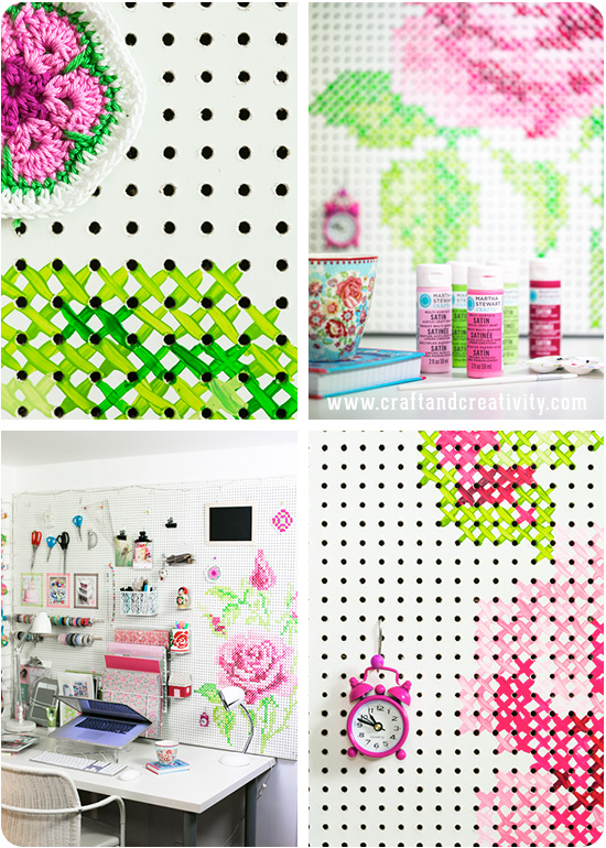 How I built and painted my pegboard - by Craft & Creativity