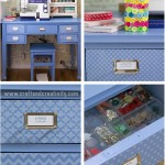 Stencil Painted Sewing Table - by Craft & Creativity