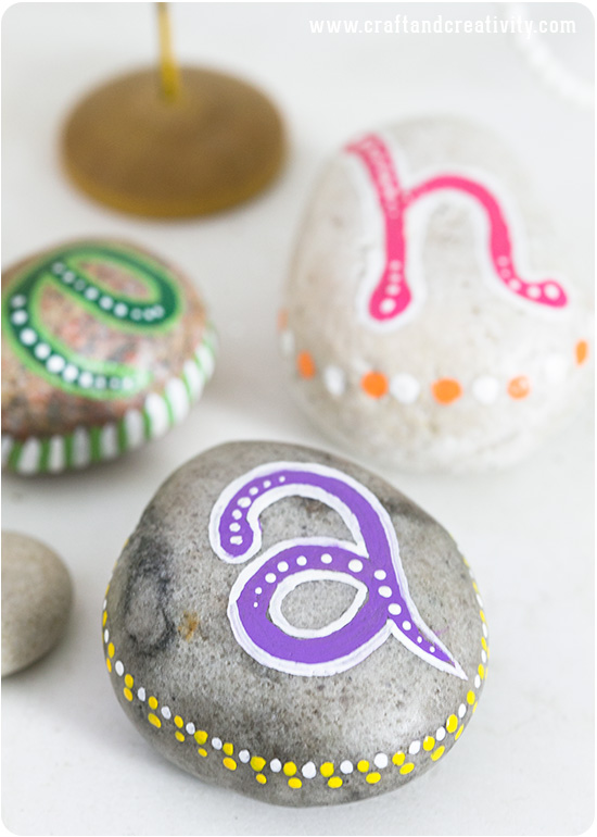 Painted pebbles - by Craft & Creativity