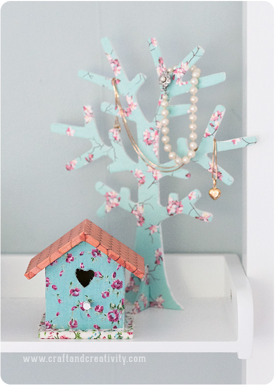 Decorated birdhouse box - by Craft & Creativity