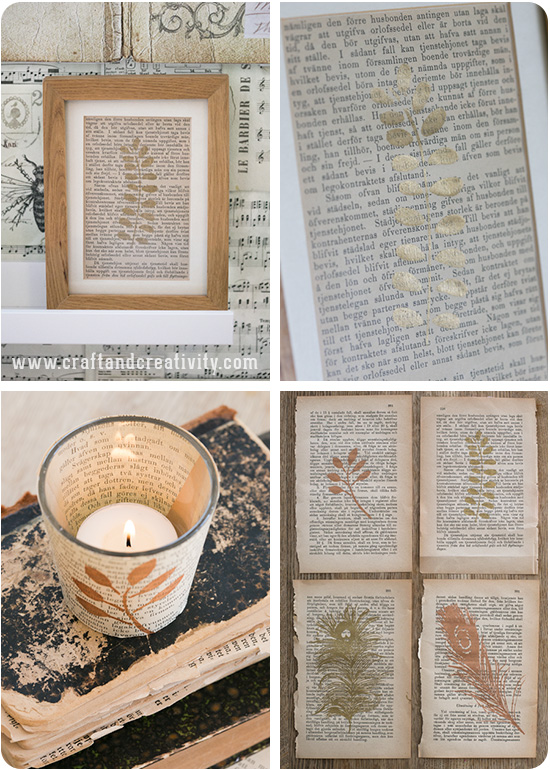 Stencil printing on paper - by Craft & Creativity