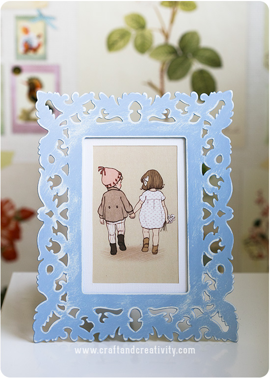Chalk Paint on metal frame - by Craft & Creativity