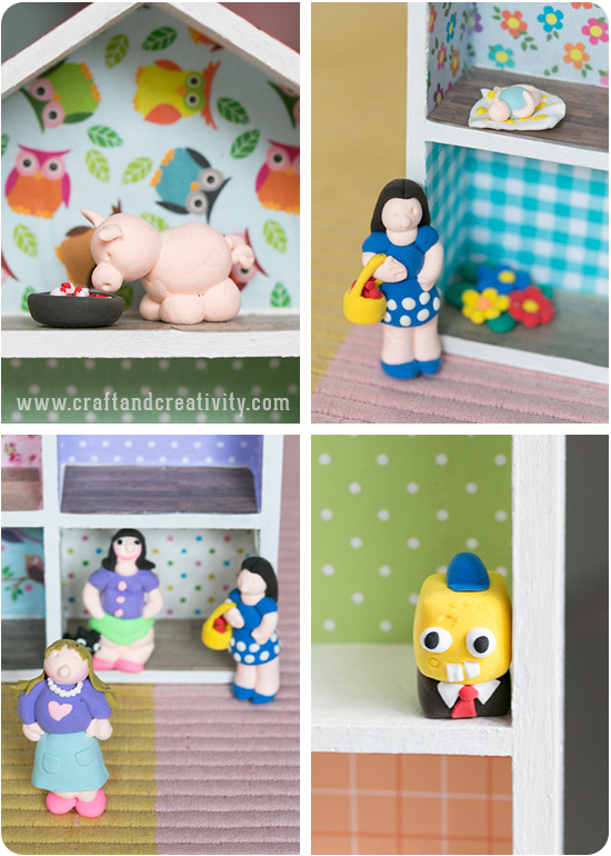 Clay Figures for the dollhouse - by Craft & Creativity