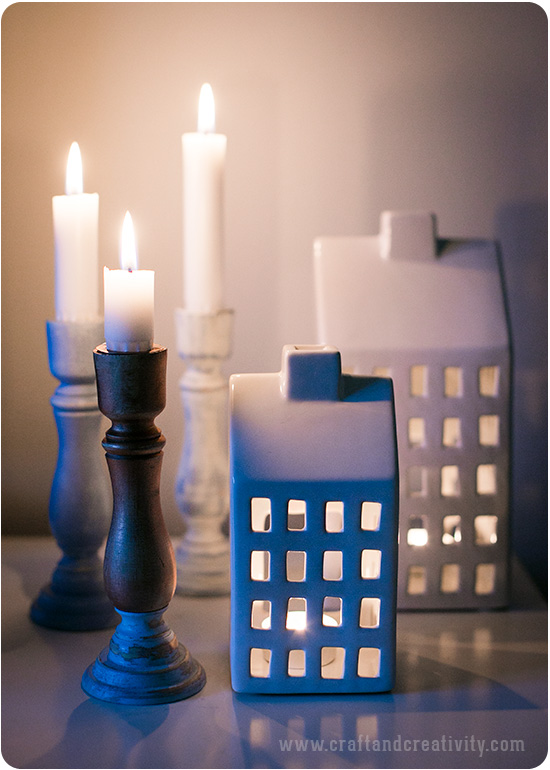 Vintage Paint on candle holders - by Craft & Creativity