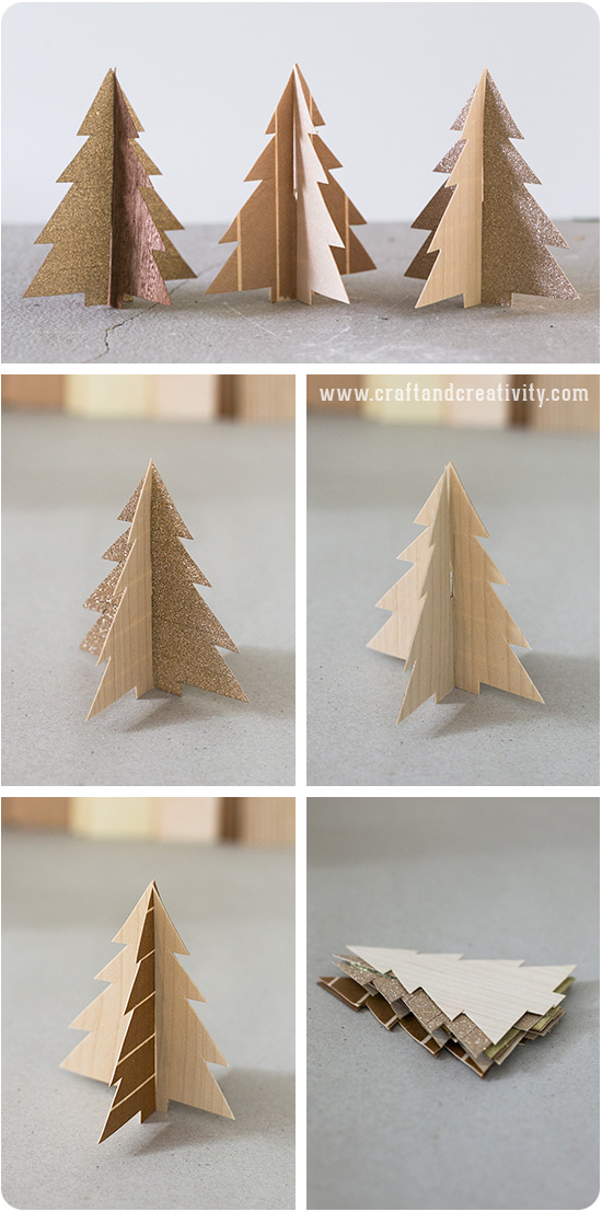 Template craft creativity pyssel diy Christmas trees made out of wood