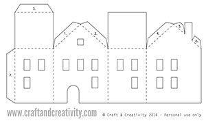 Day 3 Tea Light Paper Houses Free Template 25 Creative Days