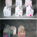 Tea light paper houses - by Craft & Creativity