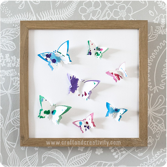 3D paper butterflies - by Craft & Creativity butterflies - by Craft & Creativity