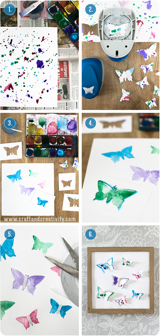 3D paper butterflies - by Craft & Creativity