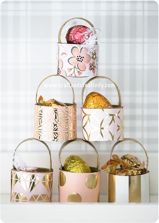 Toilet roll mini baskets - by Craft & Creativity