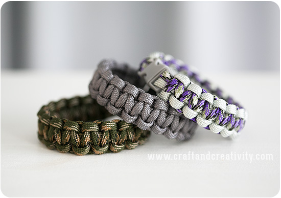 Basic Paracord Bracelets - by Craft & Creativity