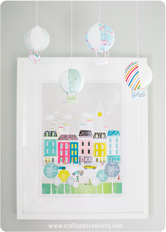 Mini hot air balloons - by Craft & Creativity