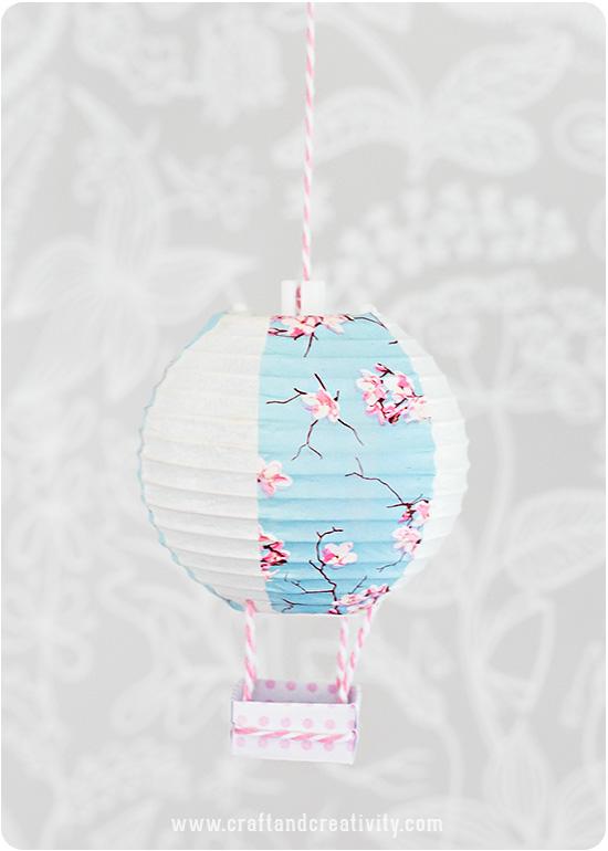 Mini hot air balloons - by Craft & Creativity