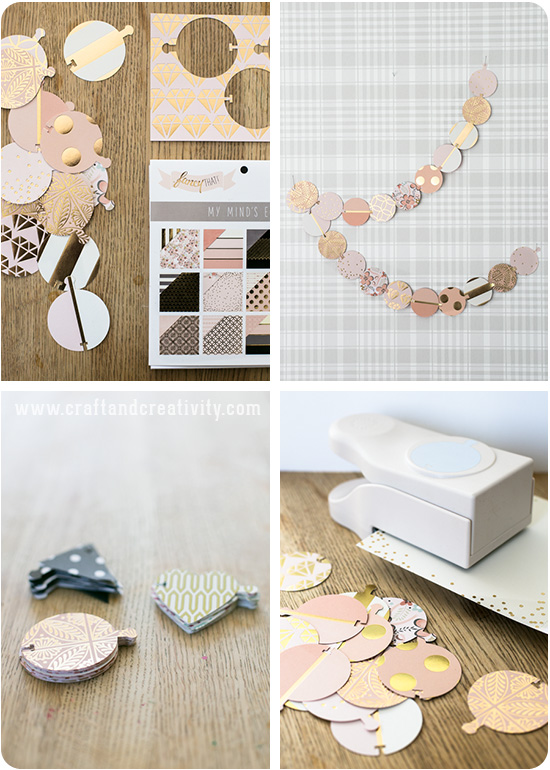 Punched paper garland - by Craft & Creativity