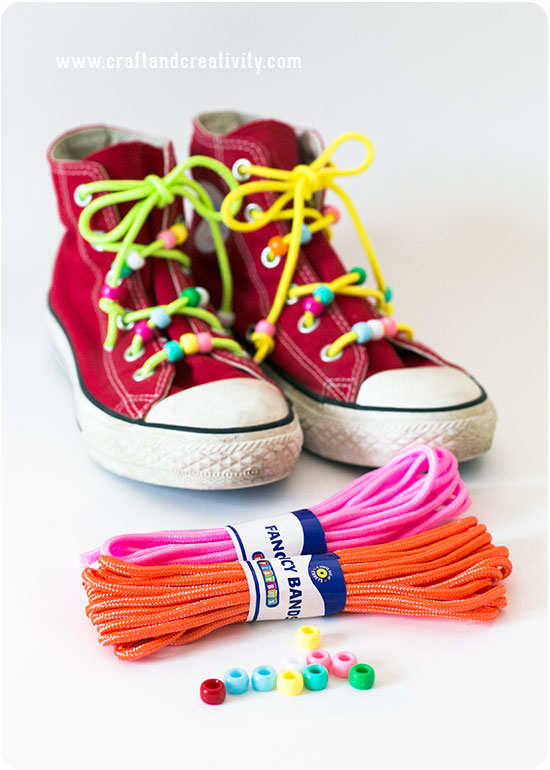 Beaded Paracord Shoelaces - by Craft & Creativity
