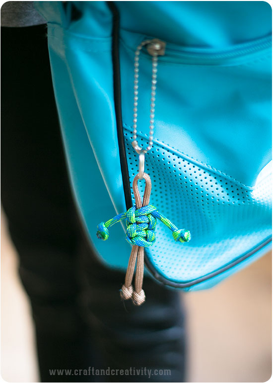 Paracord keyring - by Craft & Creativity