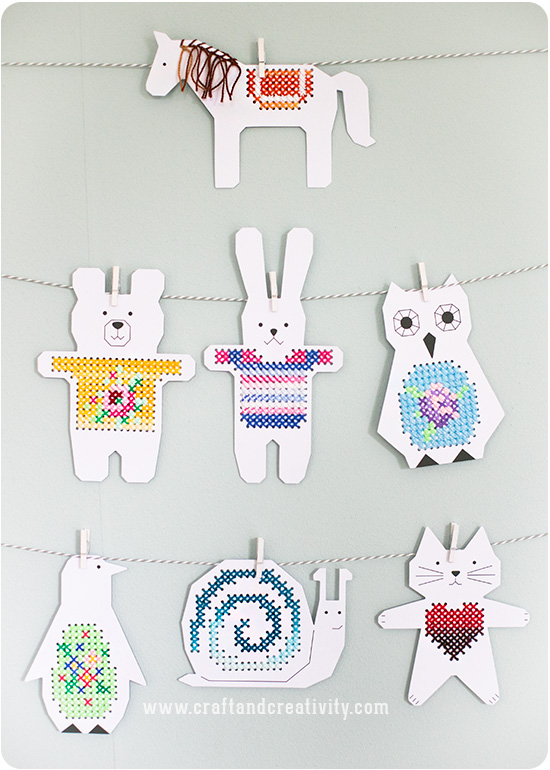 Cross stitch animals - by Craft & Creativity