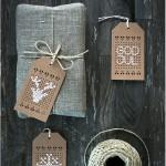 Cross stitch christmas tags - by Craft & Creativity