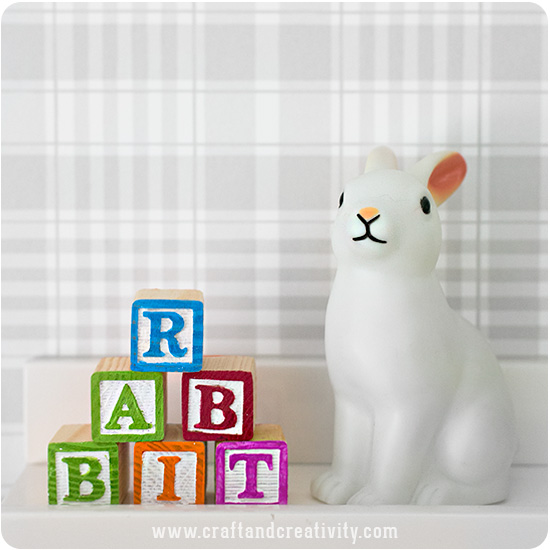 Painting Letter Blocks - by Craft & Creativity