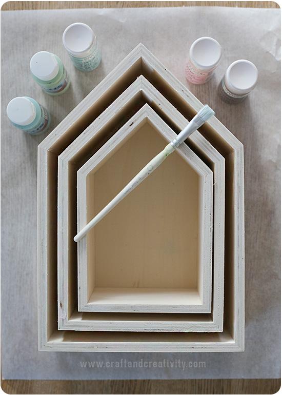 Målade hushyllor från Craft & Creativity