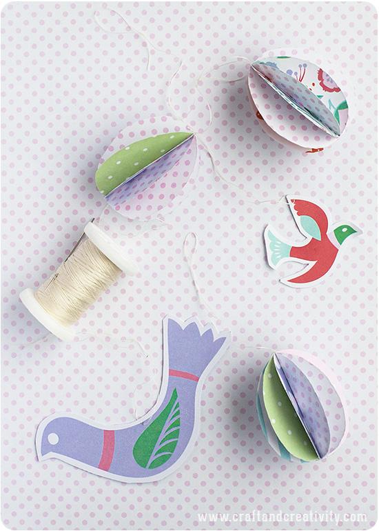 Pappersägg till påsk av Craft & Creativity