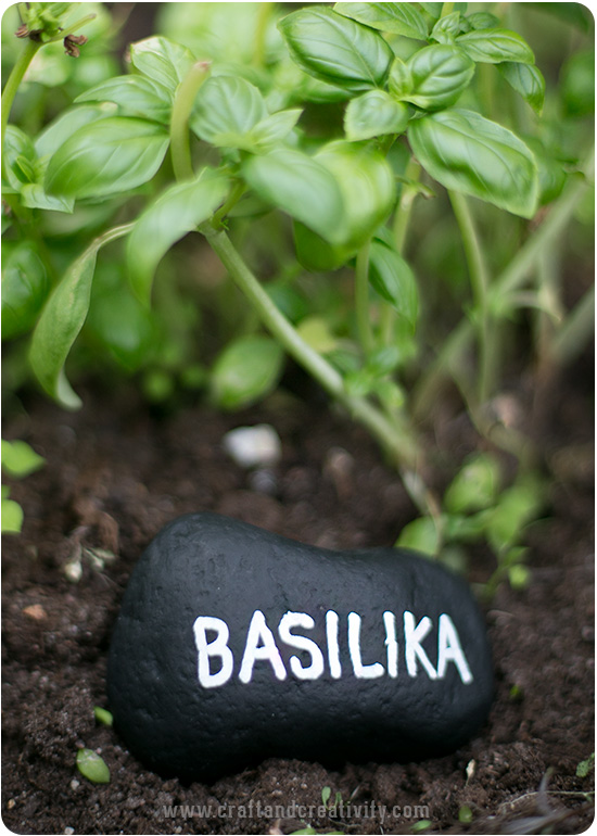 Pebble plant markers - by Craft & Creativity