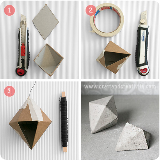 DIY concrete diamonds - by Craft & Creativity