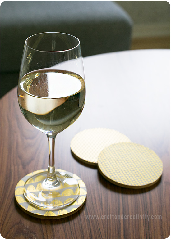 Gold Foil Coasters - by Craft & Creativity
