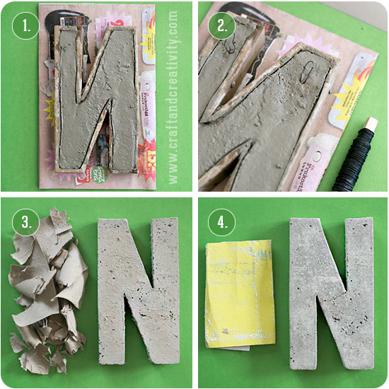 Making concrete letters - by Craft & Creativity
