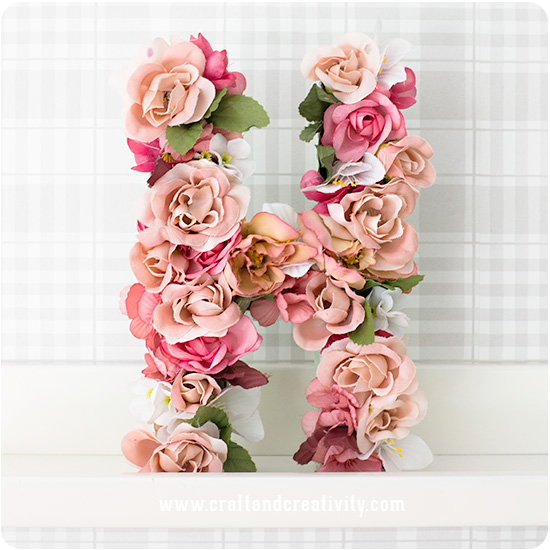 Paper mache letters with flowers - by Craft & Creativity