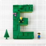 Paper maché letters with Lego - by Craft & Creativity
