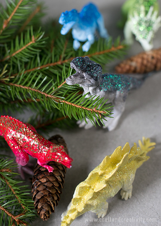 Dinosaur ornaments - by Craft & Creativity