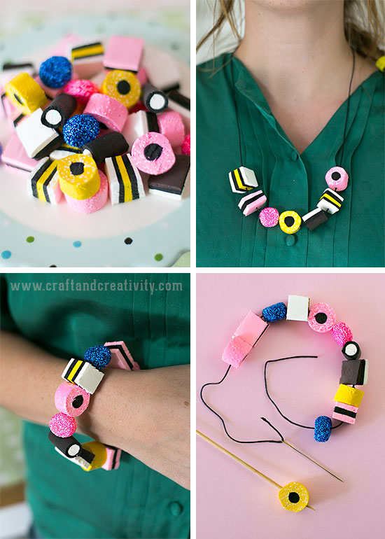 Liquorice Allsorts made of clay - by Craft & Creativity