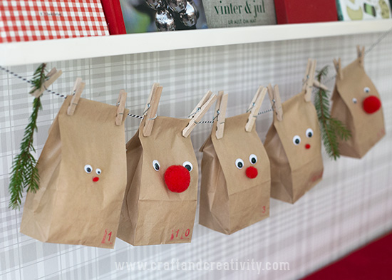 Reindeer advent calendar - by Craft & Creativity