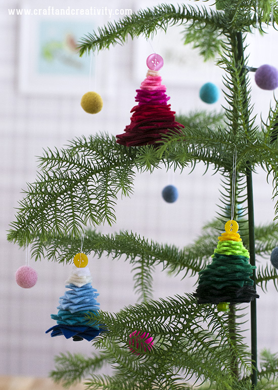 Felt Christmas trees - by Craft & Creativity
