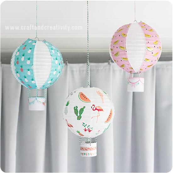 Hot lanternes en montgolfière - par Craft & Créativité