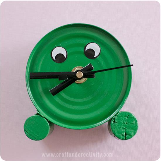 Tin can horloge - par Craft & Créativité
